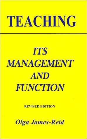 Teaching Its Management and Function